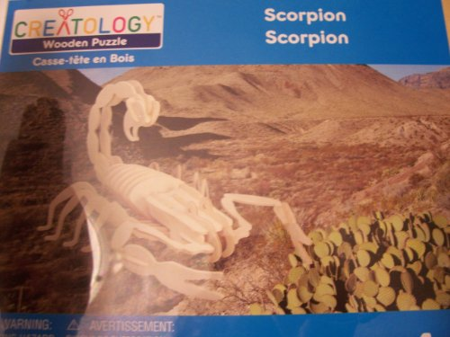 Creatology Wooden Puzzle ~ Scorpion (4 Sheets) - 1