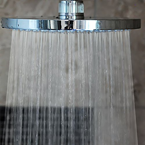 Rainfall Shower Head | 8 Inches, Fixed, 157 Jets | Polished Chrome | Showerhead Swivel Ball Connector | Ceiling or Extension Arm Mountable ***BONUS*** Thread tape included! (Shower Me Shower Head compare prices)