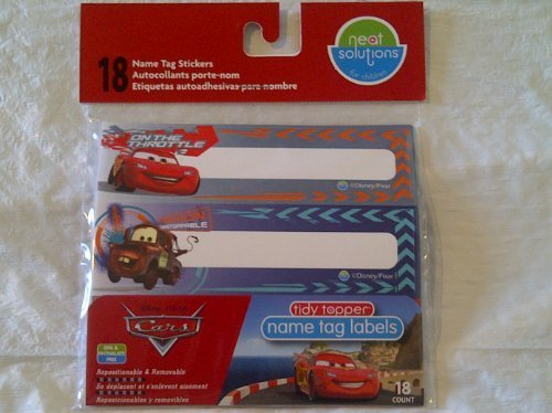Neat Solutions Disney PIXAR Cars Baby Cup Labels - Name Tag Stickers - 18 pac... - 1
