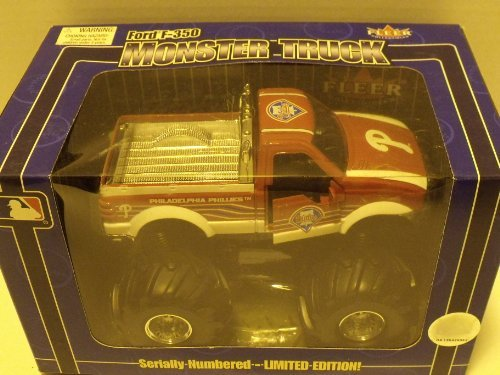 MLB Philadelphia Phillies Ford F-350 Limited Edition 1:32 Scale Die-cast Monster Truck