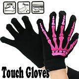Touch Gloves タッチパネル対応手袋 ボーン・ブラック/ピンク 0990549