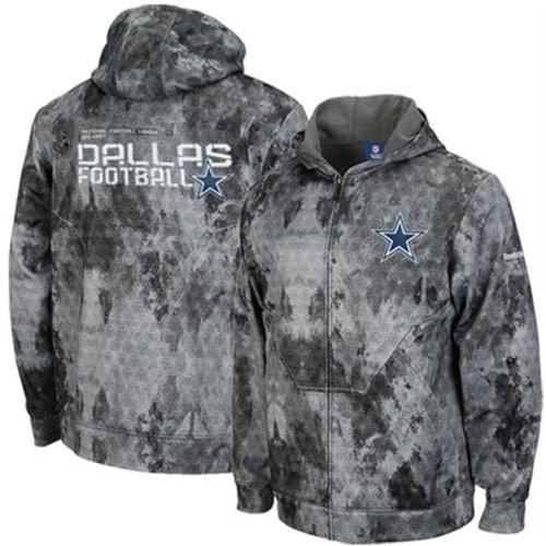 Dallas Cowboys United Digital Camo Print Sideline Full Zip Hoodie