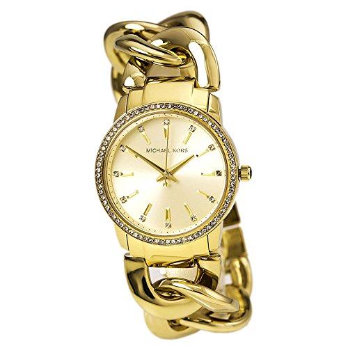 Michael Kors Lady Nini S/s Glitz Crystals Gold Tone Watch-MK3235