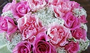 【送料無料】フラワーケーキ ≪ピンク≫誕生日、結婚記念日、クリスマス、発表会、お見舞いに贈るフラワーギフト