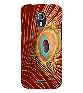 ColourCraft Peacock Feather Design Back Case Cover for MICROMAX CANVAS MAGNUS A117