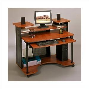 Amazon Com Studio Rta Wood Computer Desk In Black And