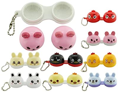 BONAMART® TM Cute Mini Travel Contact Lens Case Container