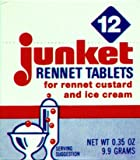 Junket Rennet Tablets, 0.23 Ounce -- 12 per case.