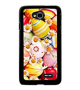 printtech Easter Eggs Flowers Colored Back Case Cover for LG L70