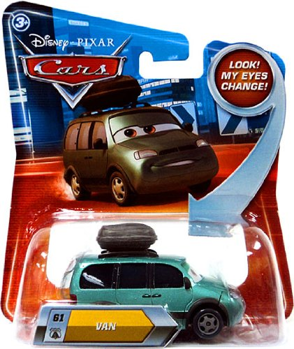 Disney / Pixar CARS Movie 155 Die Cast Car with Lenticular Eyes Series 2 Van - 1