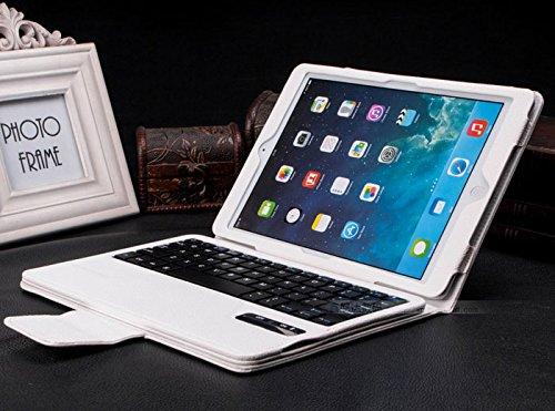iPad air 2 ケース iPad air 1 ケース bluetooth レザー キーボード/iPad air2 スマートケース iPad air1 スマートケース/IPADAIR2 アイパッド IPADAIR1 アイパッド IPAD 6 ケース IPAD 5 ケース カバー アイパットケース/[iPad]ノートタイプipad ケース/ipad カバー レザー/ipad ケース ブランド(ホワイト)