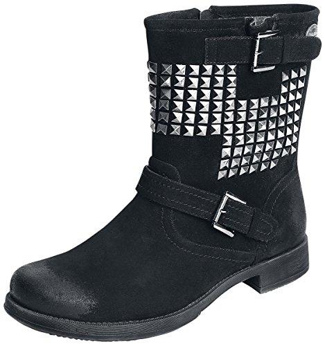 Rock Rebel by EMP Studded Vintage Boots Anfibi/Stivali nero EU40