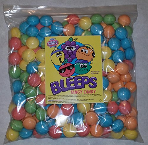 dubble-bubble-bleeps-coated-candy-balls-28-29mm-5-pounds-tangy-fruit-flavored-includes-a-free-produc