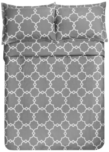 Pinzon 300 Thread Count Lattice Duvet Cover Set King