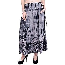 TUNTUK Women's Cirsten Skirt Tie Dye Viscose Skirt