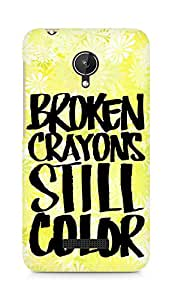 AMEZ broken crayons still colour Back Cover For Micromax Canvas Spark Q380