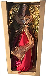 32″ Fabric Angel Christmas Holiday Figure, Red