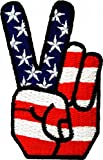 Victory USA Patch 4,2 x 7,2 cm - Toppa Patches Toppa Toppa Termoadesiva Toppa Termoadesiva Per Stoffa Ricamato Toppa Embroidered Patch Applicazioni Applique