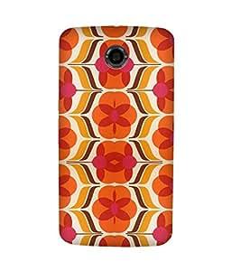 Orange And Pink Motorola Nexus 6 Case
