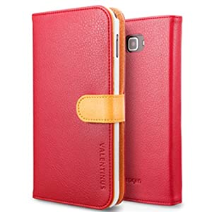 SPIGEN SGP Diary Leather Case Valentinus Series for Galaxy Note (AT&T and International Models) [Fiesta, Red, Yellow, Orange]