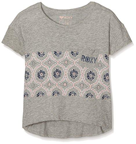 Roxy Deep Into The-Maglietta a maniche corte da donna Heather, taglia: 14 anni (taglia del produttore: 14/XL)