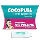 Aviva Pure Coconut Oil Pulling For Whiter Teeth Cocopull 14 Oil Pulling Packets Oil Pulling Oral Rinse Ayurvedic Cleansing Detox With Organic Peppermint Oil For Mouth And Teeth