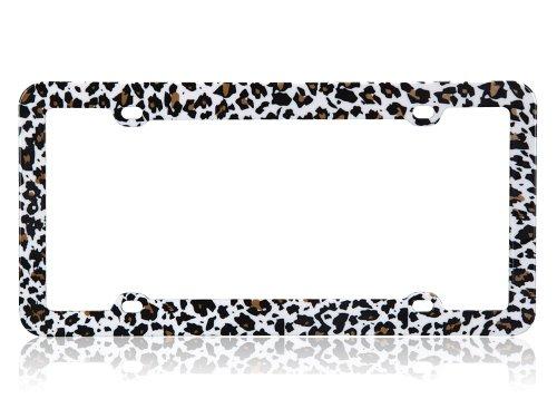 Cheetah High Quality Plastic License Plate Frame (License Plate Frame Cheetah Print compare prices)