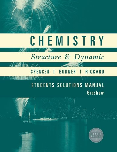 Chemistry, Student Solutions Manual: Structure and Dynamics