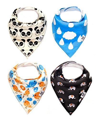 bebe-bandana-baberos-animales-4-unidades-set-de-regalo-para-bebe-ajustable-absorbente-unisex