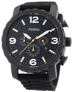 Fossil Herren-Armbanduhr XL Chronograph Quarz Silikon JR1425