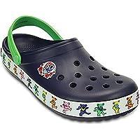Crocs Blue Crocband Grateful Dead Clog Shoes - Nautical Navy/Lime