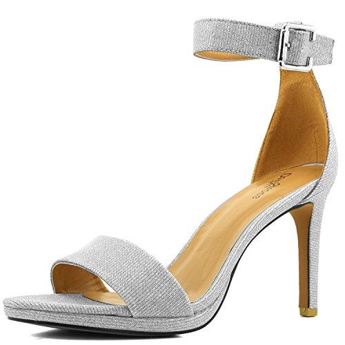 Women's Open Toe Ankle Buckle Strap Platform Evening Dress Casual Sandal Shoes 8