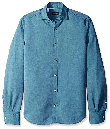 corneliani-mens-breezy-chambray-sport-shirt-green-42-eu-165
