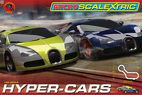 Scalextric Micro Hyper-Cars Race Set (1:64 Scale)