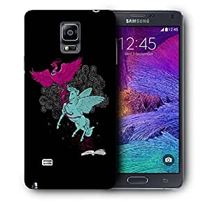 Snoogg Flying Bird And Horse Designer Protective Back Case Cover For SAMSUNG Galaxy NOTE 4