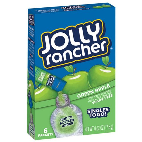 Jolly Rancher Singles-To-Go Sugar Free Green Apple Drink Mix, 6-Ct (Pack Of 6) front-145048