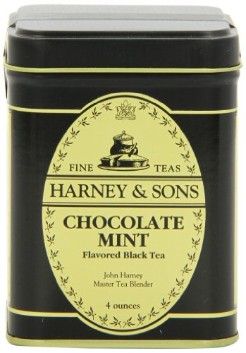 Harney & Sons Chocolate Mint Loose Leaf Tea, 4 Ounce Tin