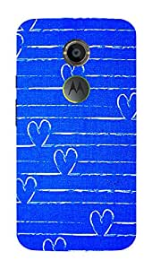 Back Cover for Moto X (2nd Gen) Abstract heart
