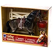 Brown Horse with Fence Playset