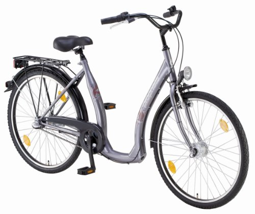 prophete tiefeinsteiger fahrrad 3 gang graphitgrau. Black Bedroom Furniture Sets. Home Design Ideas
