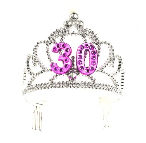 Forum Novelties Happy Birthday 30th Silver Pink Tiara
