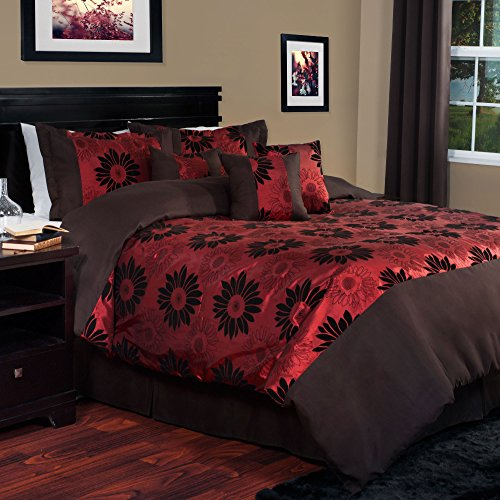 Lavish Home 7-Piece Layla Comforter Set, King front-378358