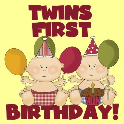 Twins 1st Birthday
