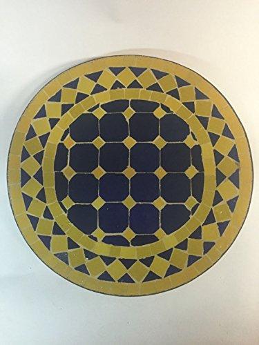 ORIGINAL Orient Beistelltisch Marrakesch Blau Gelb – Rund 40cm bestellen