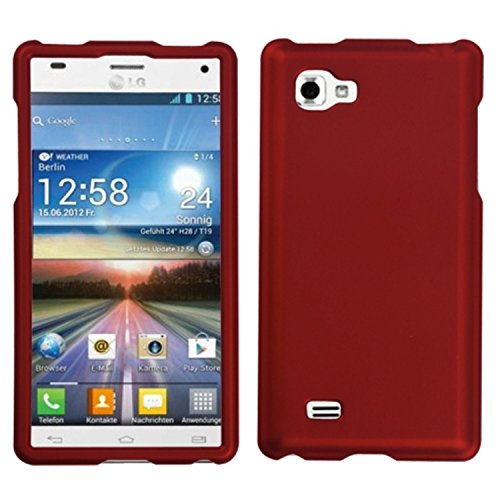 MyBat LG P880 (Optimus 4X HD) Titanium Solid Phone Protector Cover - Retail Packaging - Red (Lg 4x Hd Case compare prices)