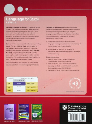 Language for Study Level 3 Student's Book with Downloadable Audio (Skills and Language for Study)