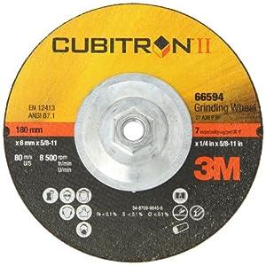 3M Cubitron II Depressed Center Grinding Wheel T27, Ceramic Grain, 5