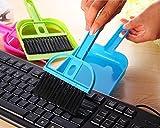 NOVICZ Mini Dust Pan Computer Laptop TV Shelves Cleaning Brush Kitchen Car Desk Broom