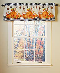 Pumpkin and Stars Window Valance