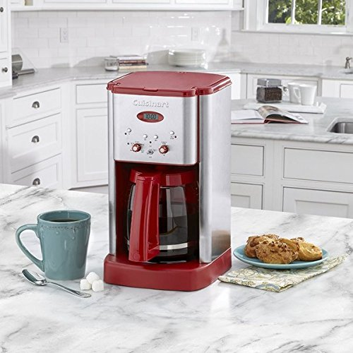 Cuisinart DCC1200R Brew Central 12-Cup Programmable Coffeemaker, Red (Cafeteria Coffee Maker compare prices)